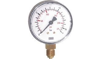 Manometer, senkrecht (auch für Vakuum)