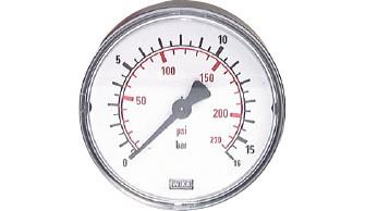 Manometer, waagerecht (auch für Vakuum)