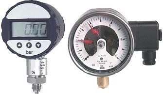Feinmessmanometer - Kontaktmanometer (auch für Vakuum)